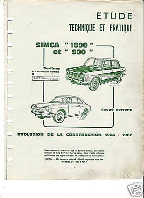 Rta Revue Technique 1966 - Simca 900 1000 Coupe + Peugeot 403 + Vw Type 1
