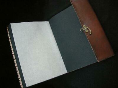 Large Handmade Leather Photo Album Guest Book - Pages of  Black Handmade Paper