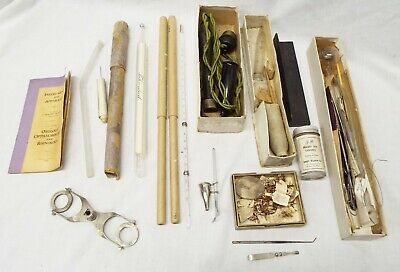 Lot of Old Antique Assorted DOCTOR MEDICAL TOOLS Scientific Optical 24pcs