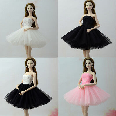 Handmade Doll Dress Clothes For  1/6 Dolls Party Daily Tulle Gown DressES