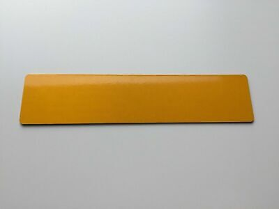 Rear Blank Yellow Car Number Plate Numberplate UK FREE P&P