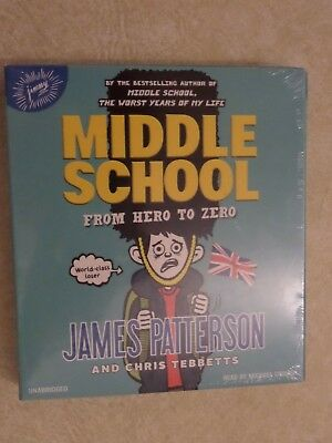 'Middle School: From Hero to Zero' by James Patterson Audiobook CD New Sealed