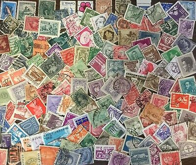 [Lot J] 125 Different SMALL/DEFINITIVE Worldwide Stamp Collection