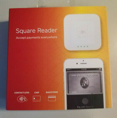 Square Reader - Contactless, Chip & Magstripe Reader (White) NEW
