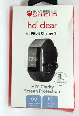 ZAGG - InvisibleShield HD Clear Screen Protector for Fitbit Charge 3 - Clear