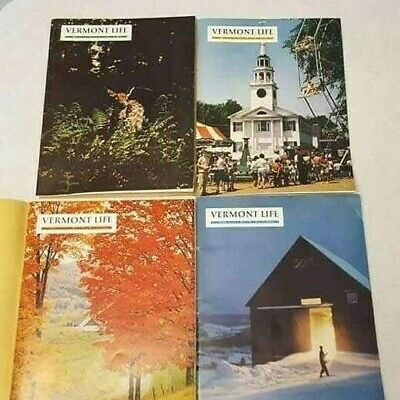 Vermont Life Magazine 1965 Spring Summer Autumn Winter 4 Issues Free S/H Vintage