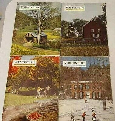 Vermont Life Magazine 1968 Spring Summer Autumn Winter 4 Issues Free S/H Vintage
