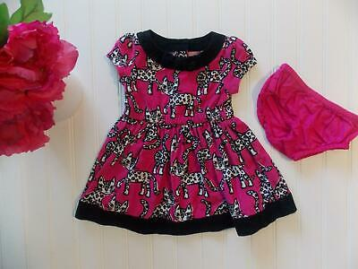 20301f791b4b25 Gymboree Baby Girls 6-12 Month Tails of The City Leopard Cat Corduroy Pink  Dress