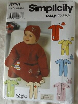 ANIMAL~HOLIDAY TRIMS MAKE BABY BUNTING~HAT SEWING PATTERN SIZE PREEMIE~18 LBS