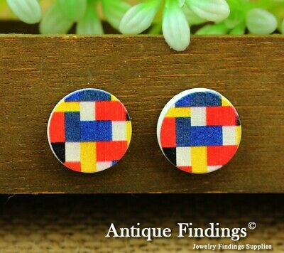 10Pcs 15mm Round Handmade Photo Wooden Craft Wood Cut Cabochon HWC022R