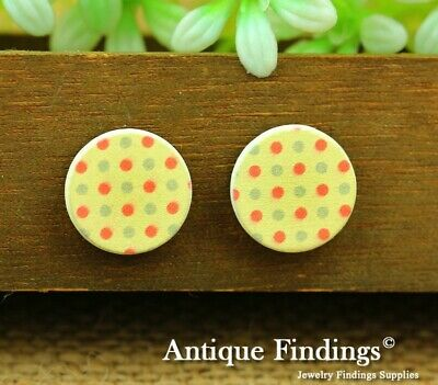 10Pcs 15mm Round Handmade Photo Wooden Craft Wood Cut Cabochon HWC022K