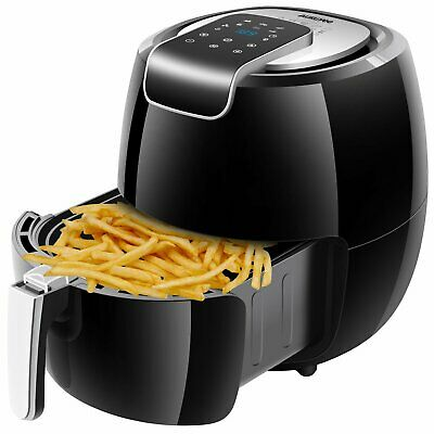1800W Large 5.6QT Electric Hot Air Fryer Oilless Cooker 7 Cooking Presets Oven
