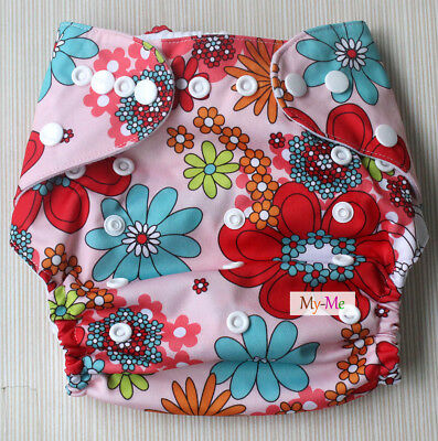 Baby One Size Cloth Diaper GIRL COLORS Reusable Pocket Nappy Newborn Adjustable
