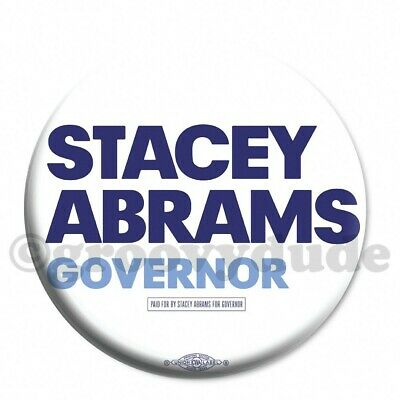 "Official Stacey Abrams for Georgia Governor 2-1/4"" Campaign Pin Pinback Button"