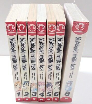 7 x Yubisaki Milk Tea Vol 1-6 & 8 Manga Graphic English Books Novels Bundle Set