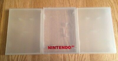 Set 3 Nintendo 64 Plastic Game Cases - One Official