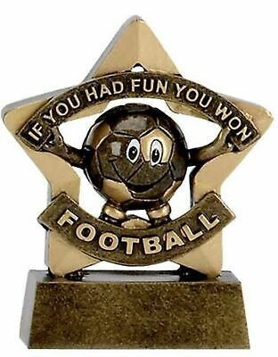 Personalised Mini Star Football Participation Fun Trophy (gw) ENGRAVED FREE