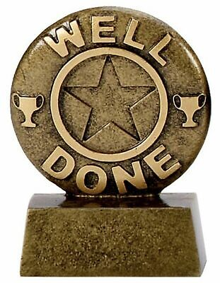 ENGRAVED FREE gw Personalised Mini Star Well Done Achievement Trophy
