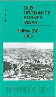 Old Ordnance Survey Map Halifax Se 1905