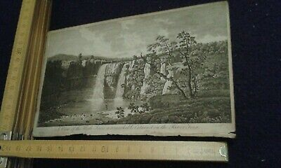 Original Antique Print - A View of High Force - late 18th/early 19th century