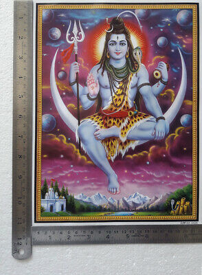 8.5x11 Inch Poster Lord Shiva Sits on the Moon