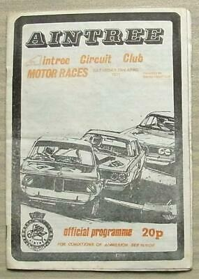 AINTREE 23 Apr 1977 AINTREE CIRCUIT CLUB MOTOR RACES Official Programme