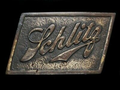 NE29108 VINTAGE 1970s **SCHLITZ** BREWING COMPANY BEER/BOOZE BELT BUCKLE