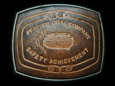 LC25137 VINTAGE 1970s **PEABODY COAL COMPANY SAFETY ACHIEVEMENT** MINING BUCKLE