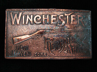 QH01118 VINTAGE 1970s **WINCHESTER REPEATING ARMS** GUN & FIREARM BELT BUCKLE
