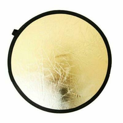 """24"""" 2 in 1 Photography Photo Light Mulit Collapsible Disc Reflector Handle 60cm"""