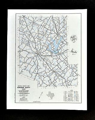 Texas Map - Comanche County - Proctor Lake - De Leon - Gustine Sydney Downing