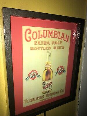 Columbian Brewing CO. Memphis TN Beer Bar Man Cave Lighted Advertising Sign