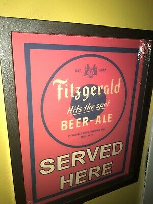 Fitzgerald Beer Bar Tavern Man Cave Lighted Advertising Sign