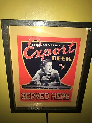 Lebanon Valley Pin-Up Girl Beer Bar Tavern Man Cave Lighted Advertising Sign