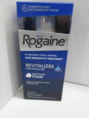 Rogaine Mens Hair Regrowth Treatment Foam Unscented 1 month supply BRAND NEW!