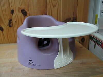 Purple Lilac or Lavender Bumbo Infant Feeding Booster Floor Seat w/ Tray + Belt
