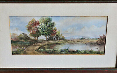 Best Offer:Clara Cragbon landscape watercolor antique late 19th/early 20th cent