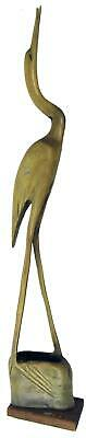 Crane Stork Heron Carved Buffalo Horn Large 50 cm / 19¾""