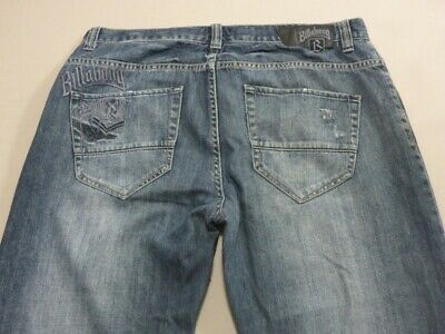 059 Mens Ex-Cond Billabong Relaxed Fit Blue Fade Jeans Sze 36 $120 Rrp.