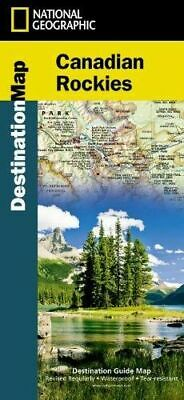 NEW Canadian Rockies Destination Map By National Geographic Maps Folded Sheet Ma