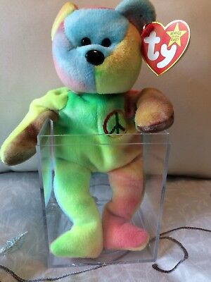 007f8c47216 Rare Ty Beanie Baby Peace Bear Original Collectible With Tag Errors - 1996