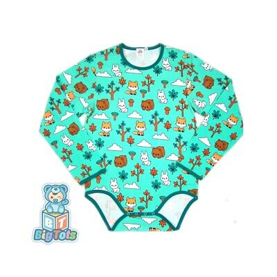 Adult Forest baby animal Long S.bodysuit romper aqua green autistic diaper wear