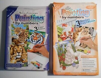 Royal & Langnickel Painting by Numbers Sets KITTENS and LIONS