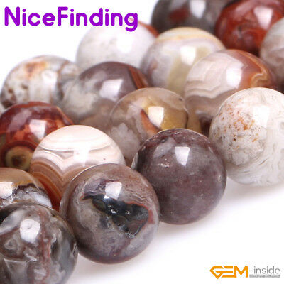 Natural Round Multi Color Polishing Morocco Agate Stone Beads For Jewelry Making