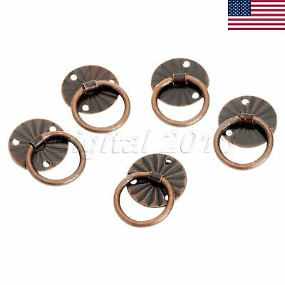 12pcs Retro Door Pull Handle Drop Ring Drawer Cabinet Jewelry Box Knobs US STOCK