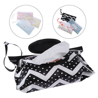 Clutch and Clean Wipe Carrying Case Eco-friendly Wet Wipes Bag Cosmetic Pouch HU