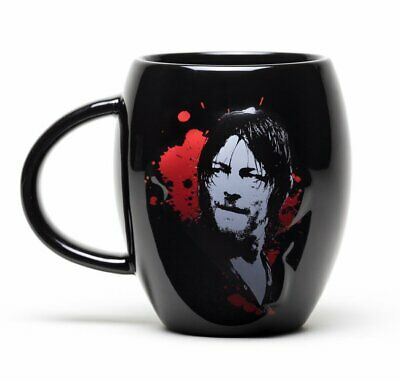 THE WALKING DEAD Hunter CREST OVAL MUG 15OZ CERAMIC CUP MGO0010 GIFT BOXED