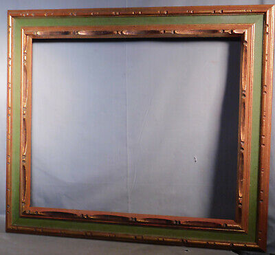 Vintage Spanish Revival baroque Cassetta Carved Gilt Wood Picture Frame 20x24