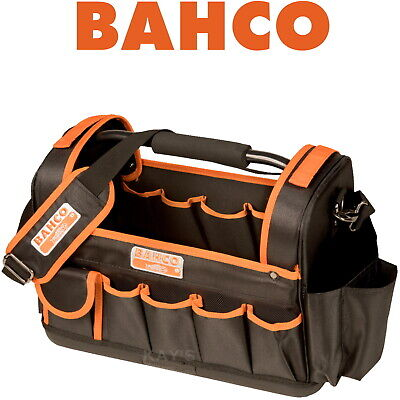 """BAHCO 17"""" 450mm OPEN TOP TOTE TOOL BAG HARD BASE HOLDALL STRONG CARRYALL 3100TB"""