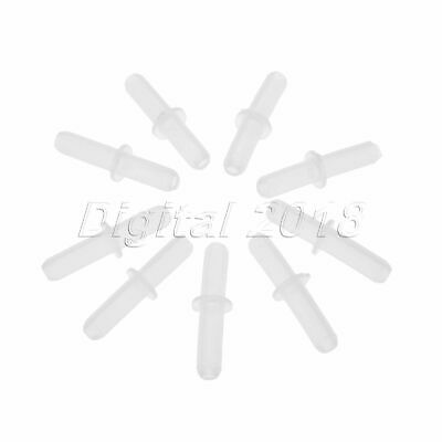 100×Plastic Airline Air Tube Tubing Connectors Aquarium Straight Connectors
